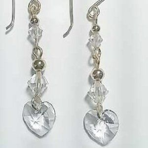 Swarovski Crystal & 14k Gold Filled Earrings NWT